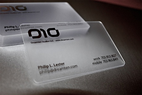transparent,plastic,round corner business card