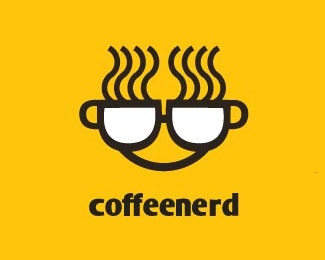 coffee,cup,face logo