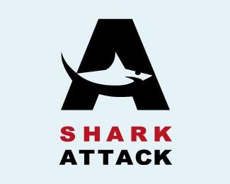 fish,shark,fancy logo