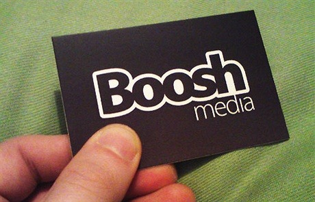 black,matte laminated,stylish business card