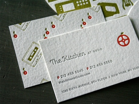simple,letterpress business card