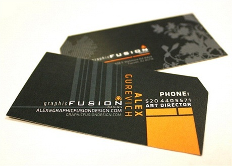 black,stylish business card