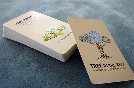 fancy,multi color,round corner business card