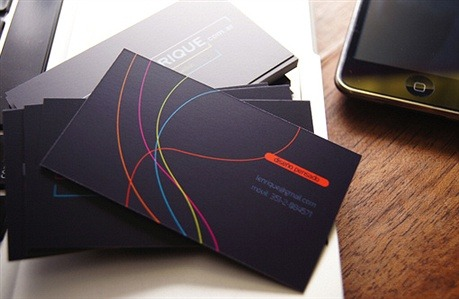 fancy,multi color business card