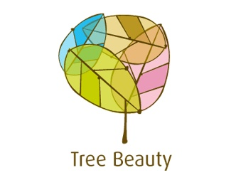 leaf,tree,lines,colorful logo