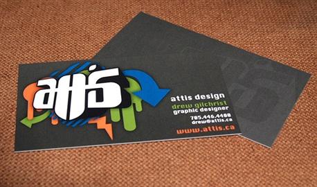 Attis Design Business Card business card
