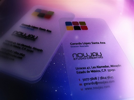 transparent,fancy,plastic,round corner,stylish business card