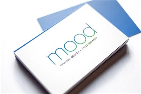 Mood Graphic Design and Photography business card