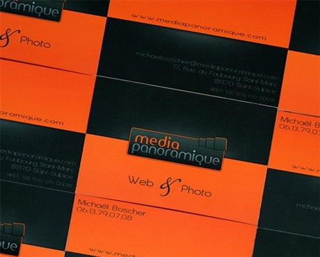 black,creative,orange,fancy,matte laminated business card