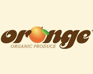 fruit,leaf,orange,fancy logo
