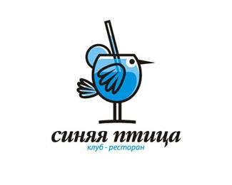 bird,glass,straw logo