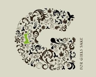 design,flower,fractal logo