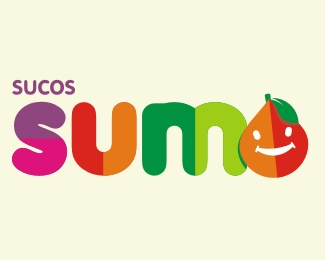 bold,color,fruit,fancy logo