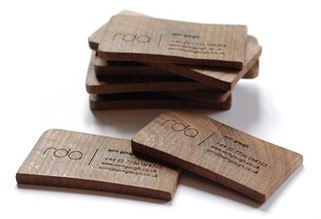 Wooden Business Card business card