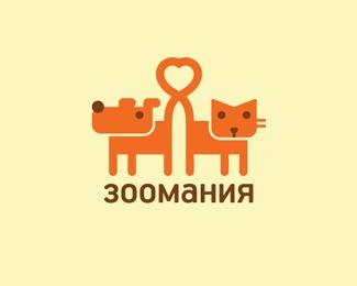animal,cat,heart,dog logo