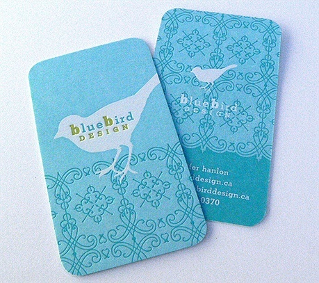 Blue Bird Design Card business card