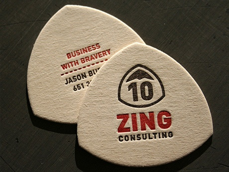 Zing Consulting Letterpress Card business card
