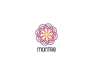 flower,lines,complex logo