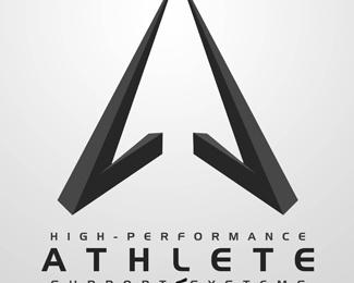 3d,hp,athlete logo