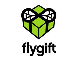 3d,box,fly,gift logo