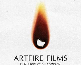 art,film,fire,flame logo