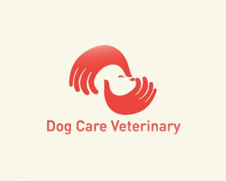 creative,hand,dog logo