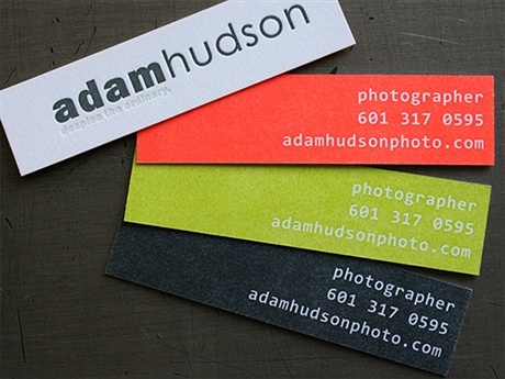strips,contrast color,cotton paper business card