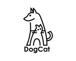 animal,cat,dog,lines logo