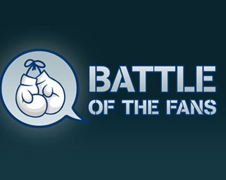 round,strips,battle,glove,stencil logo