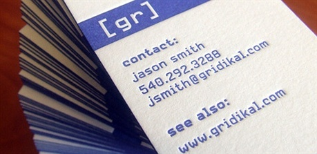 cotton paper,letterpress business card