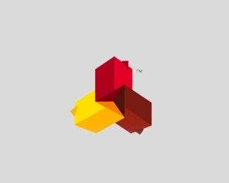 3d,construction,blocks,colorful logo