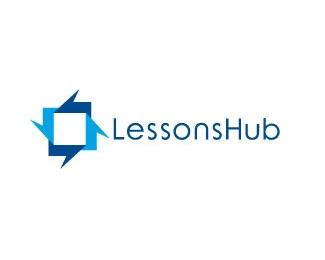 arrow,square,hub logo