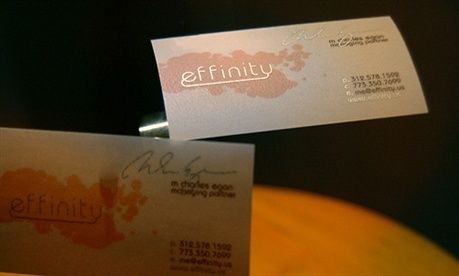 fancy,metallic color business card