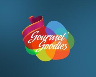 gourmet,strip,colorful,fancy,goodies logo