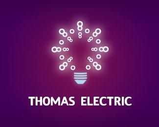bulb,electric,spots,bubbles,glow logo