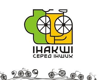 face,sketch,bicycle logo
