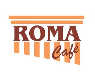 building,coffee,shop,strips,lines logo
