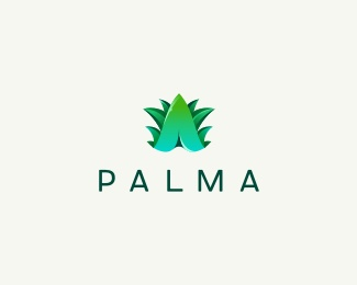 3d,plant,tree,palm,exotic logo