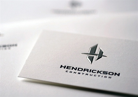 simple,foil stamped,letterpress business card