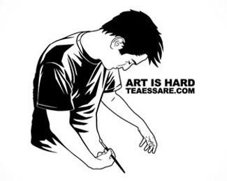 art,sketch,people.man logo