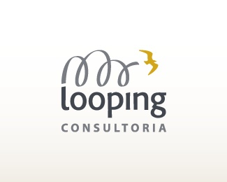 animal,bird,curves,loop logo