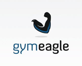bird,gym,eagle,arm logo