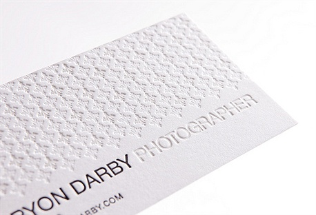 Bryon Darby Photographer business card