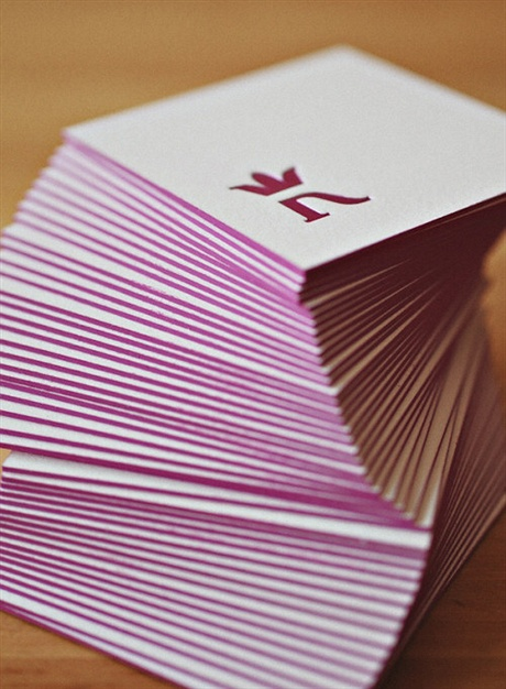Beautiful Square Letterpress business card