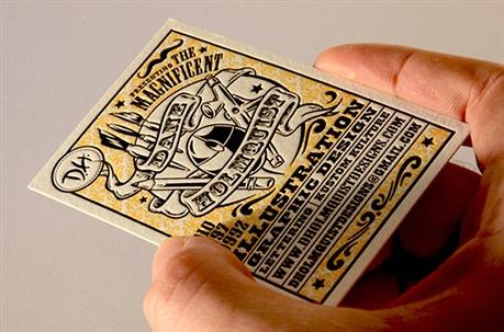 Artwork Letterpress Design business card