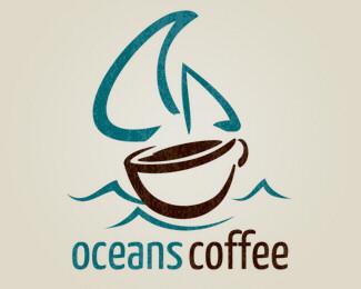 brown,coffee,cup,drink,ocean logo