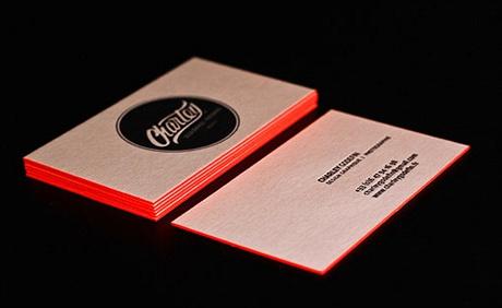 Bright Orange Letterpress business card