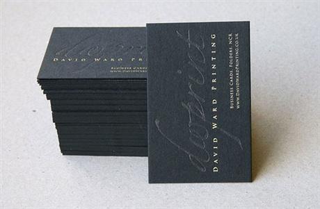 Black Debossed Card business card
