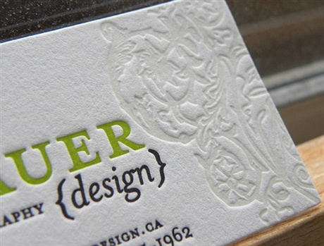 2 color,cotton paper,letterpress business card