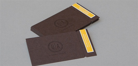 Chocolate Colored Card business card